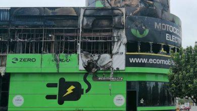 Photo of Sale ardiendo una tienda de motos eléctricas del Polígono PISA