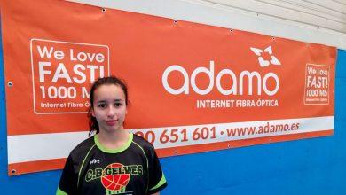 Photo of La jugadora del Club Baloncesto Gelves Esther López becada por la academia de Berni Rodríguez