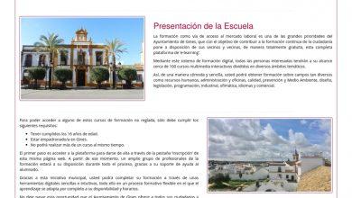 Photo of Gines impulsa la formación 'online' durante el Estado de Alarma con cerca de 120 cursos gratuitos