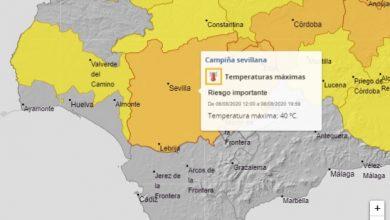 Photo of Aviso naranja por altas temperaturas en la provincia de Sevilla