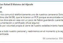 Photo of La Bodega San Rafael de Mairena alerta a sus clientes de un positivo por COVID-19 en su plantilla