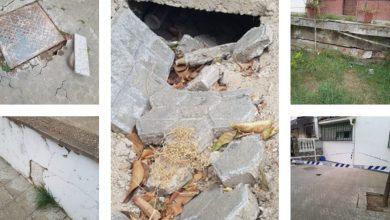 Photo of Las deficiencias de un barrio de Camas: aceras que se hunden, muros que se desprenden y falta de mantenimiento en las calles
