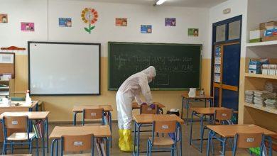 Photo of Coria desinfecta el colegio Hipólito Lobato por un caso de Covid-19