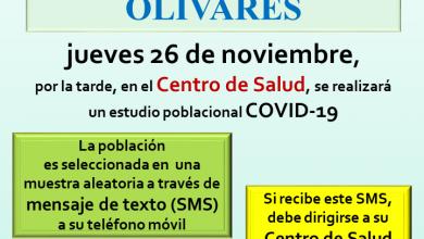 Photo of Cribado poblacional este jueves en el Centro de Salud de Olivares