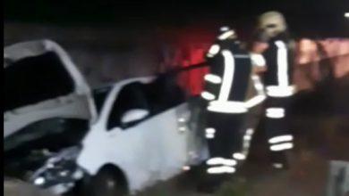 Photo of Grave accidente sin heridos en la carretera SE-660, a la altura del Conforama