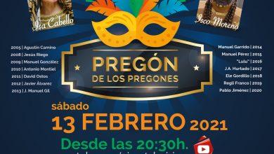 Photo of El 'Pregón de los pregones' inaugura este sábado 13 de febrero el #CarnavalEnCasa de Gines