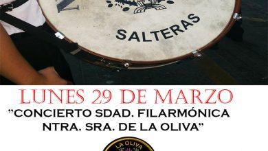 Photo of Salteras organiza dos conciertos a cargo de las Bandas de la Oliva y el Carmen que se emitirán en directo en Youtube