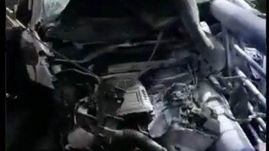 Photo of Los bomberos rescatan a una conductora atrapada tras chocar contra el viaducto de la A66