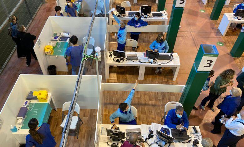 Photo of Arranca la vacunación en el punto del Estadio Olímpico de la Cartuja de Sevilla